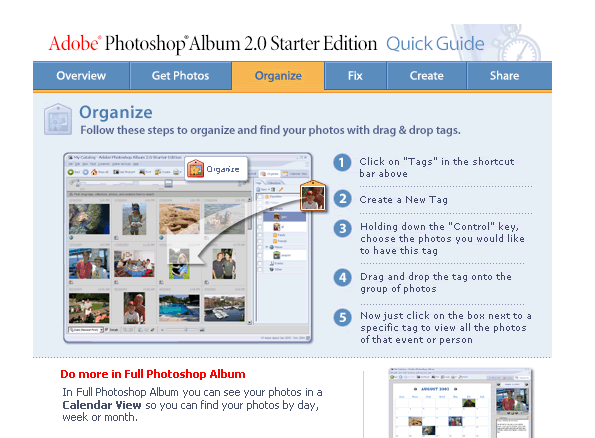 Adobe Photoshop Album Quick Guide