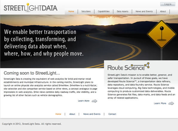 StreetLight's purpose-built analytic platforms for transportation services